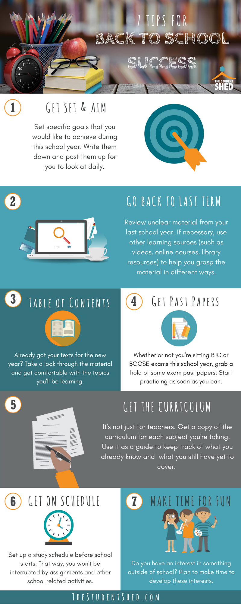 7 Tips for Back to School Success