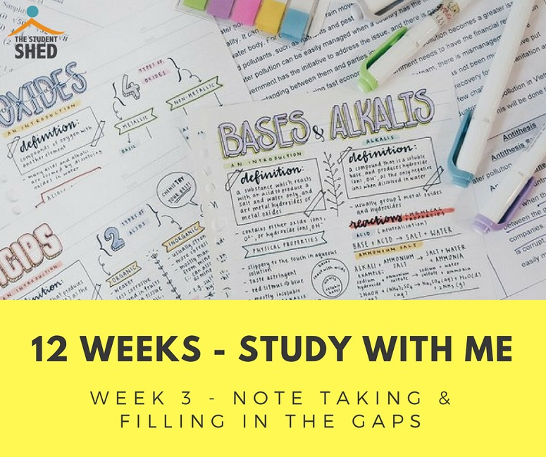12 weeks study with me week 3
