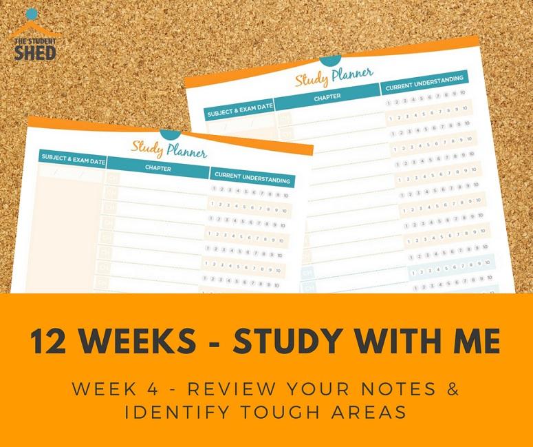 12 weeks study with me - week 4