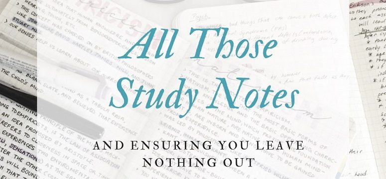 Exam Content – How to Make Sure You Leave Nothing Out