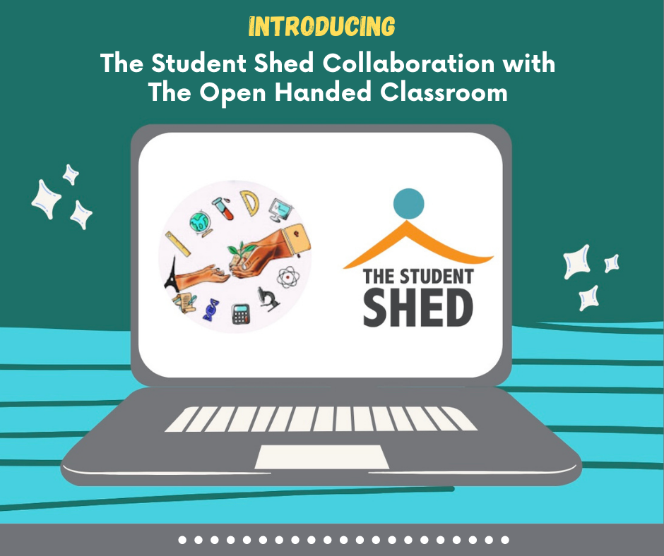 Student shed collaboration with the open handed classroom